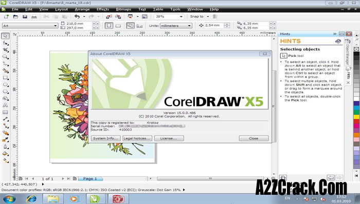 corel draw serial number x7