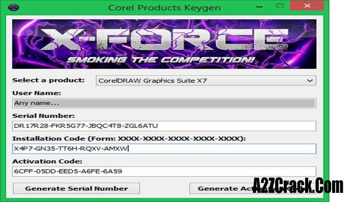 keygen xforce corel draw x7