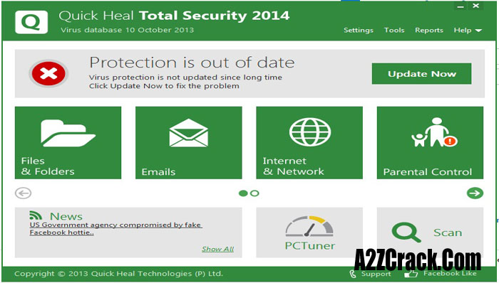 quick heal total security 2014 product key