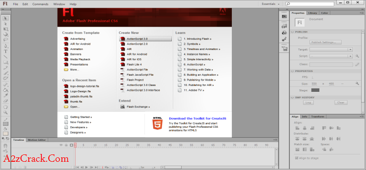 Adobe Flash CS6 Download Trial Version Download