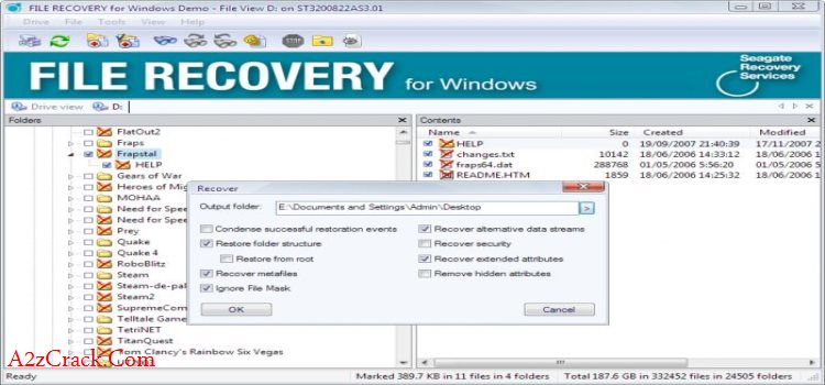 Seagate File Recovery Serial