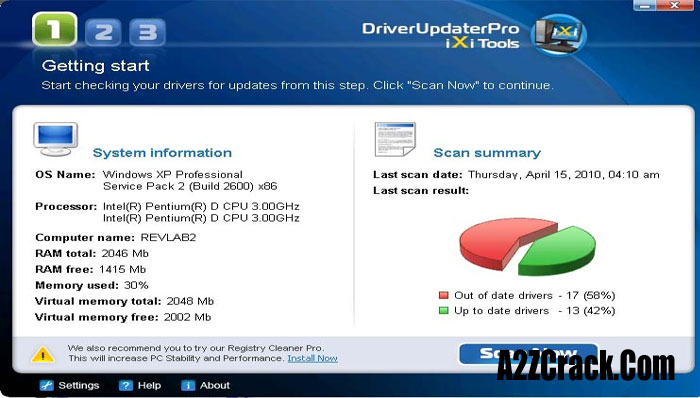 driverupdaterpro registration key