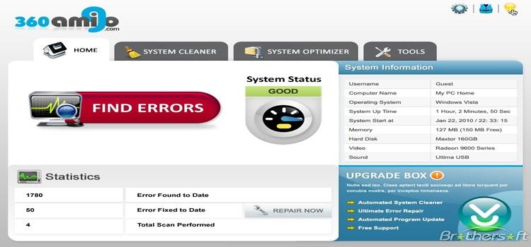 360amigo System Speedup Pro Serial