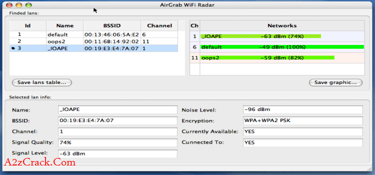 AirGrab WiFi Radar