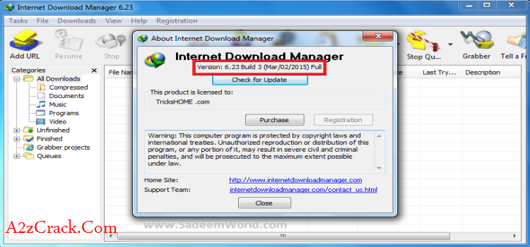 Internet Download Manager  6.23 Cracked