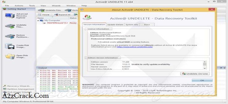 Active Undelete 11 Serial Key