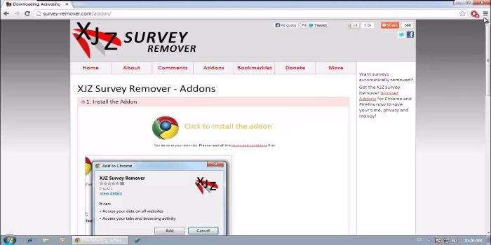 The XJZ Survey Remover Download