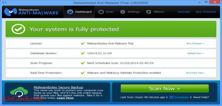 Malwarebytes Premium Key + Setup Download | A2zCrack