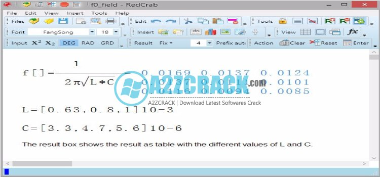 RedCrab Calculator v6.14.0 Full Download  RedCrab Calculator v6 program is a handy and free calculator with a full screen view that supports all kinds of methematical operations and formulas. Did you know RedCrab Calculatorupports the introduction of fractions, algebraic equations. And designed for technical and scientific applications such as square root Chinese. Many mathematical functions written on the same page. Results obtained with an expression can moved to the next relative. This is a best software. Download the best and latest version here. Just click on below given link to start downloading.    •1 ---->Decimal fixed point, floating point, exponent. •2----> Hexadecimal, octal or binary. •3 ---->Date- and time format. •4 ---->Graphical display of the results in chart (5 chart types). • 5---->Accuracy: 14 digits. • 6---->Print selected areas of the worksheet. • 7---->Insertion of text boxes. • 8---->Insertion of images. • 9---->Over 35 arithmetic & trigonometric functions. • 10---->functions and operators for bit handling.  Download: Link 1| Link 2 | Link 3