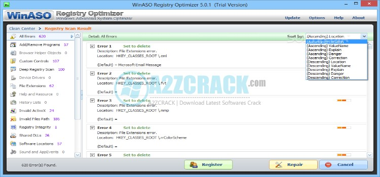 WinASO Registry Optimizer 5.4.0.1 + Portable