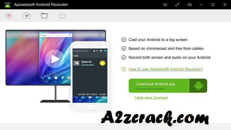 Apowersoft Android Recorder Crack Free Download [Latest] | A2zcrack