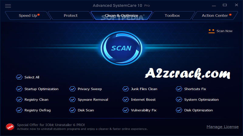 Advanced SystemCare Pro 17 Free Download [Latest] | A2zcrack