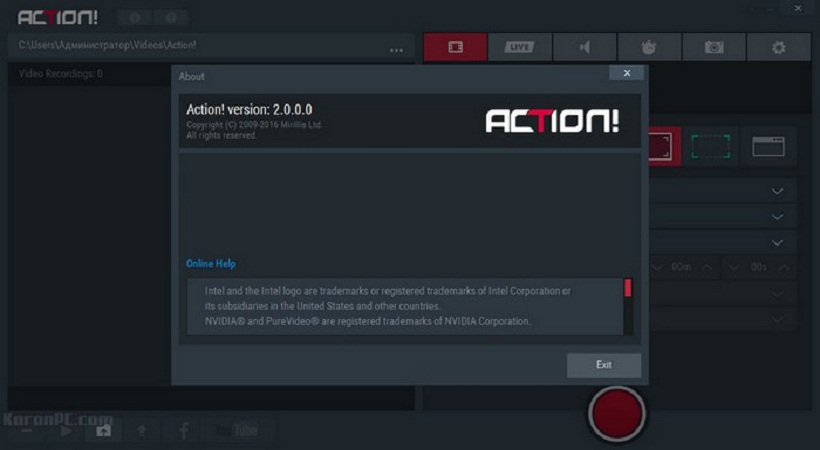 Mirillis Action 2.0.0 Crack Available For Window | A2zcrack