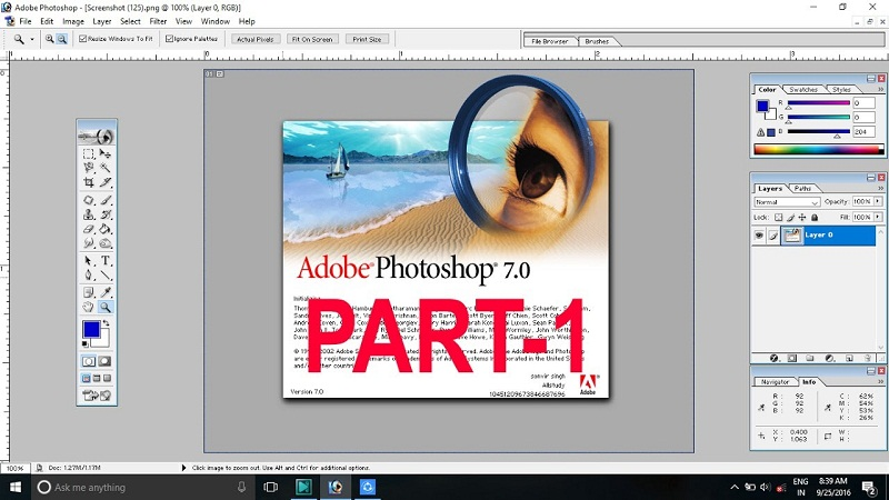 Adobe Photoshop 7.0 Crack Free Download Full Setup | A2zcrack