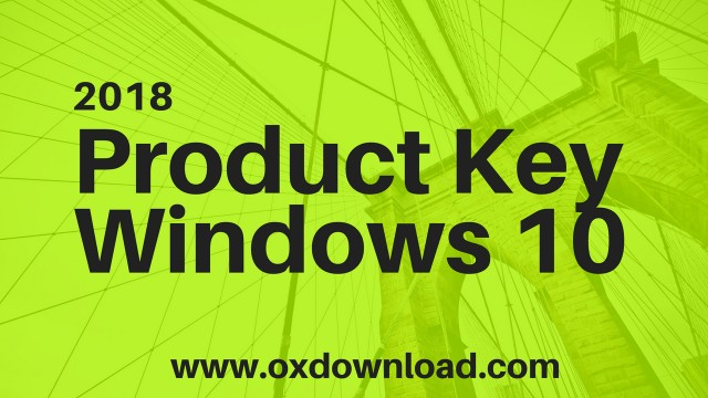 windows 10 serial key 2018