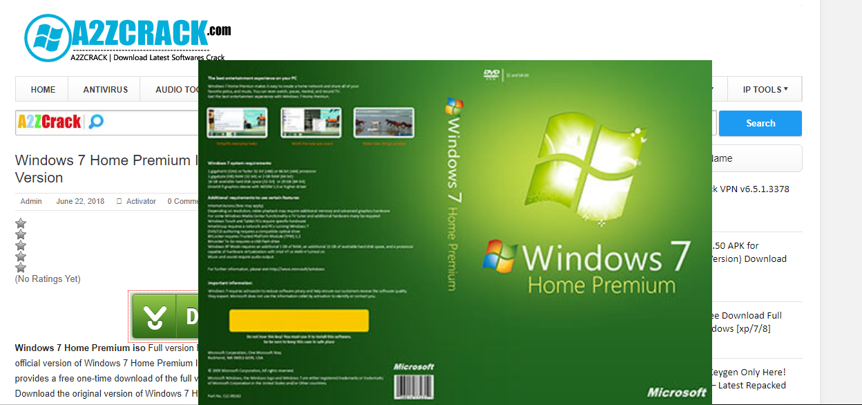 Windows 7 Home Premium ISO [Latest Update] 2018 - Full Version