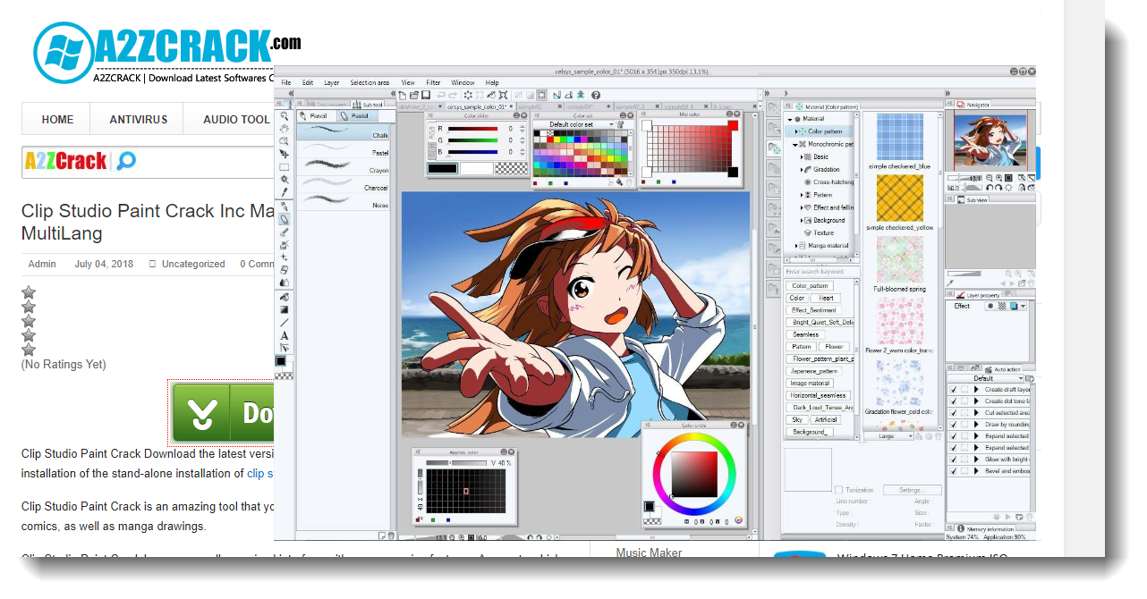 Clip Studio Paint Crack Inc Materials