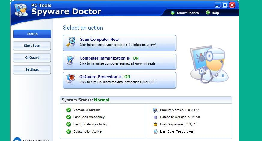 PC Tools Spyware Doctor 9.1 License key