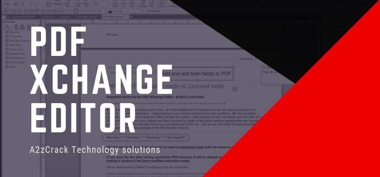 PDF Xchange Editor Crack [2019] - Latest + Keygen